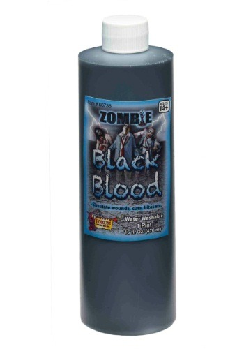 Click Here to buy Zombie Black Blood from HalloweenCostumes, CDN Funds & Shipping