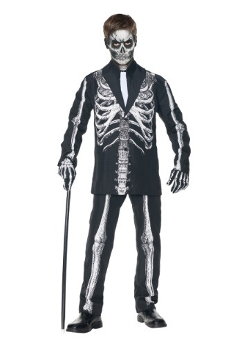 Click Here to buy Boys Skeleton Suit Costume from HalloweenCostumes, CDN Funds & Shipping