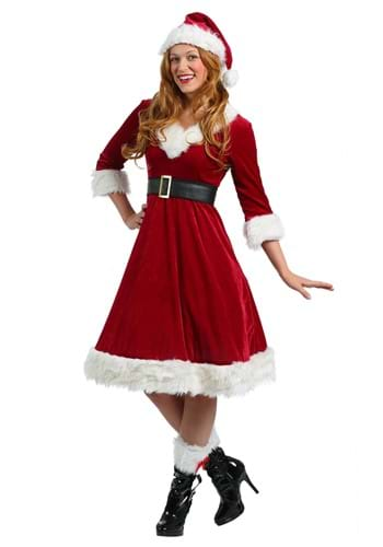 Click Here to buy Womens Santa Claus Sweetie Costume from HalloweenCostumes, CDN Funds