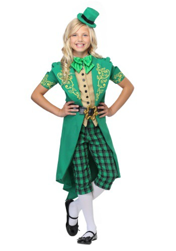 Click Here to buy Charming Leprechaun Girls Costume from HalloweenCostumes, CDN Funds & Shipping