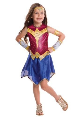 Click Here to buy Kids Dawn of Justice Wonder Woman Costume from HalloweenCostumes, CDN Funds & Shipping