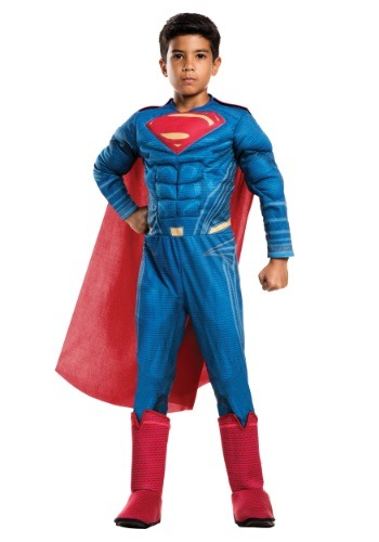 Click Here to buy Deluxe Kids Dawn of Justice Superman Costume from HalloweenCostumes, CDN Funds & Shipping