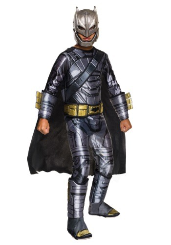 Click Here to buy Deluxe Kids Dawn of Justice Armored Batman Costume from HalloweenCostumes, CDN Funds & Shipping