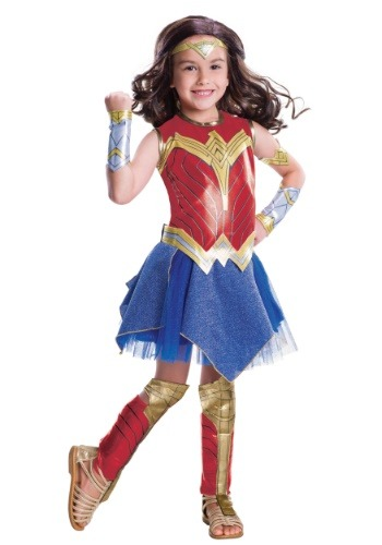 Click Here to buy Deluxe Kids Dawn of Justice Wonder Woman Costume from HalloweenCostumes, CDN Funds & Shipping