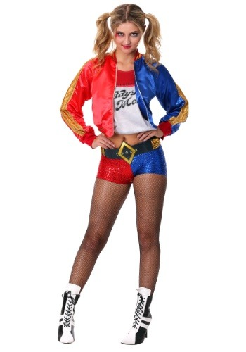 Click Here to buy Deluxe Suicide Squad Harley Quinn Costume from HalloweenCostumes, CDN Funds & Shipping