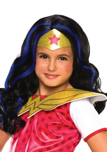 Click Here to buy DC Superhero Girls Wonder Woman Wig from HalloweenCostumes, CDN Funds & Shipping
