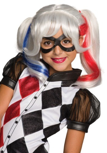 DC Superhero Girls Harley Quinn Wig