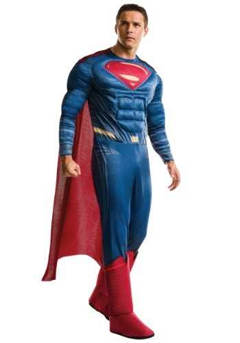 Click Here to buy Plus Size Deluxe Dawn of Justice Superman Costume from HalloweenCostumes, CDN Funds & Shipping