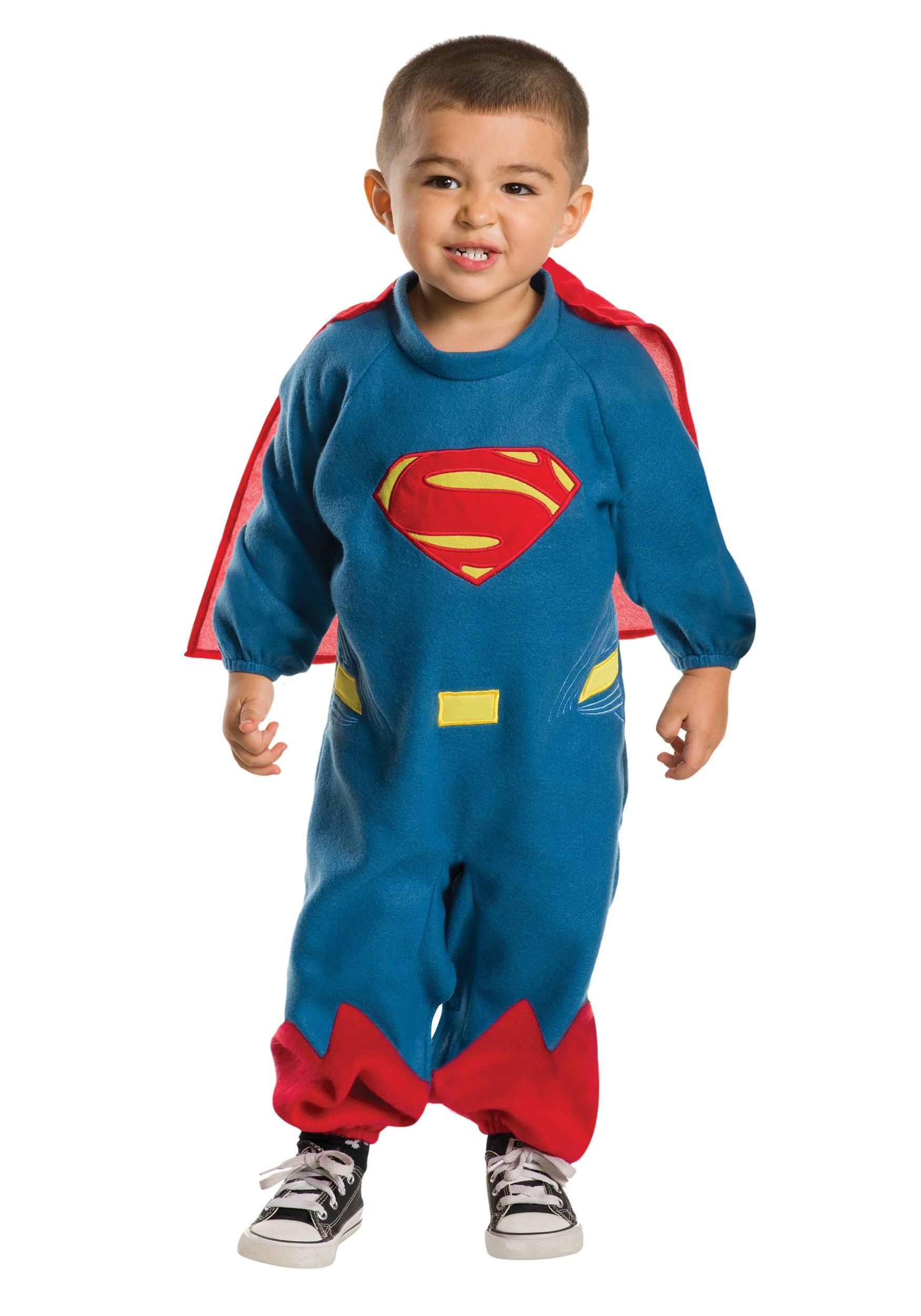 Toddler Superman Fleece Romper Costume