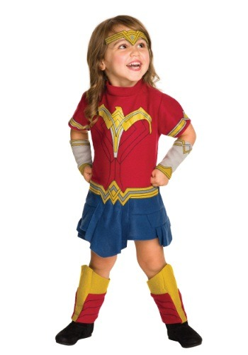 Click Here to buy Toddler Wonder Woman Fleece Costume from HalloweenCostumes, CDN Funds & Shipping