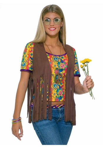 Click Here to buy Sexy Hippie Vest from HalloweenCostumes, CDN Funds & Shipping