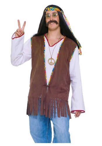 Click Here to buy Mens Hippie Vest from HalloweenCostumes, CDN Funds & Shipping