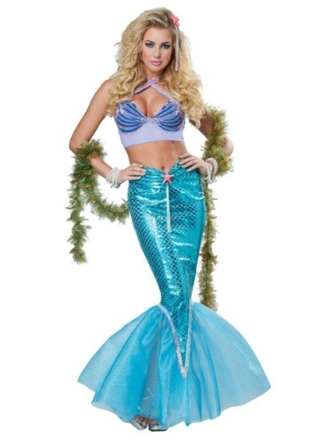 Click Here to buy Womens Deluxe Mermaid Costume from HalloweenCostumes, CDN Funds & Shipping