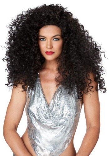 Click Here to buy Brunette Disco Diva Wig from HalloweenCostumes, CDN Funds & Shipping