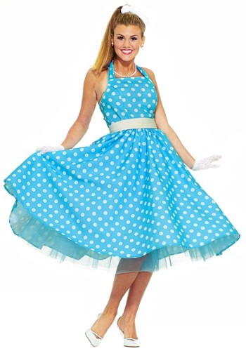 Click Here to buy Ladies 50s Costume from HalloweenCostumes, CDN Funds & Shipping