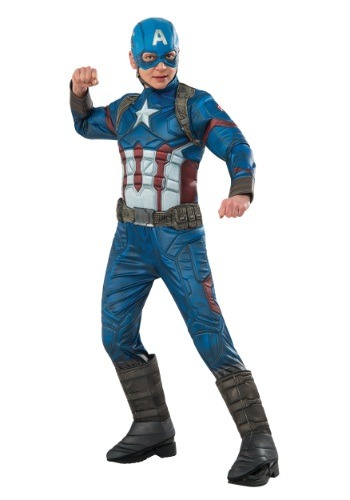 Boys Elite Civil War Captain America Costume
