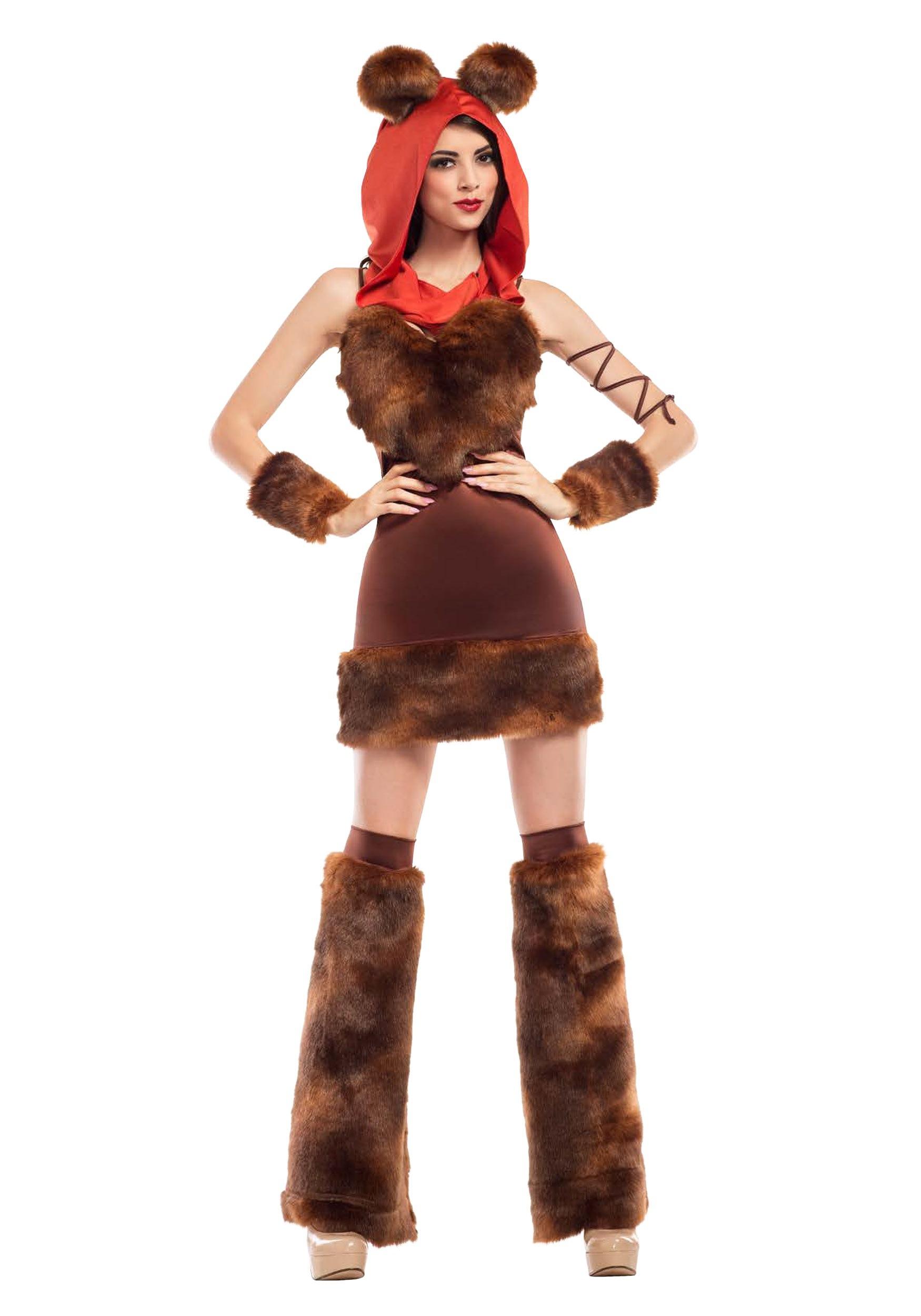 Womens Cute Furry Space Creature Costume-4825