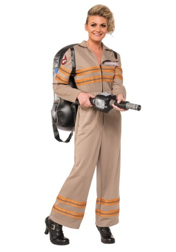 Click Here to buy Womens Deluxe Ghostbusters Movie Costume from HalloweenCostumes, CDN Funds & Shipping