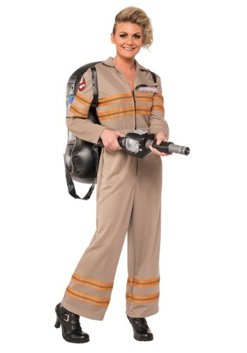 Click Here to buy Womens Deluxe Plus Size Ghostbusters Movie Costume from HalloweenCostumes, CDN Funds & Shipping