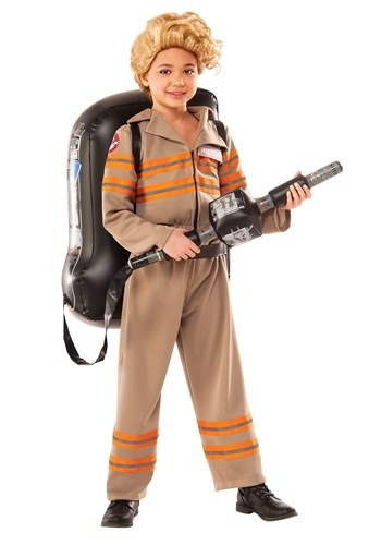 Click Here to buy Girls Deluxe Ghostbusters Movie Costume from HalloweenCostumes, CDN Funds & Shipping