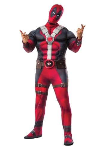 Click Here to buy Plus Size Deluxe Deadpool Movie Costume from HalloweenCostumes, CDN Funds & Shipping
