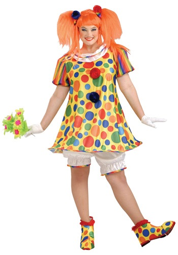 Click Here to buy Plus Size Giggles the Clown Costume from HalloweenCostumes, CDN Funds & Shipping