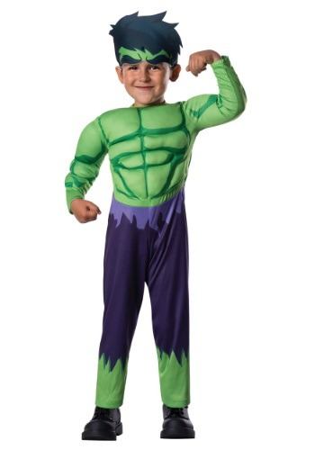 Click Here to buy Toddler Deluxe Hulk Costume from HalloweenCostumes, CDN Funds & Shipping