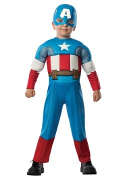 Toddler Deluxe Captain America Costume