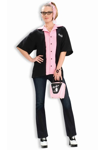 Click Here to buy Queen Pins Bowling Shirt from HalloweenCostumes, CDN Funds & Shipping