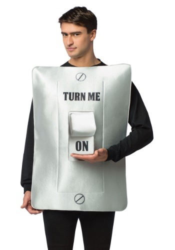 Click Here to buy Turn Me On/Off Light Switch Costume from HalloweenCostumes, CDN Funds & Shipping