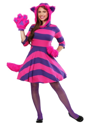 Click Here to buy Cheshire Cat Plus Size Womens Costume from HalloweenCostumes, CDN Funds & Shipping