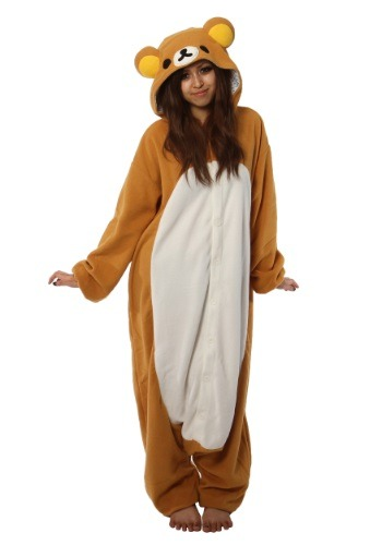 Click Here to buy Adult Rilakkuma Kigurumi Pajama Costume from HalloweenCostumes, CDN Funds & Shipping