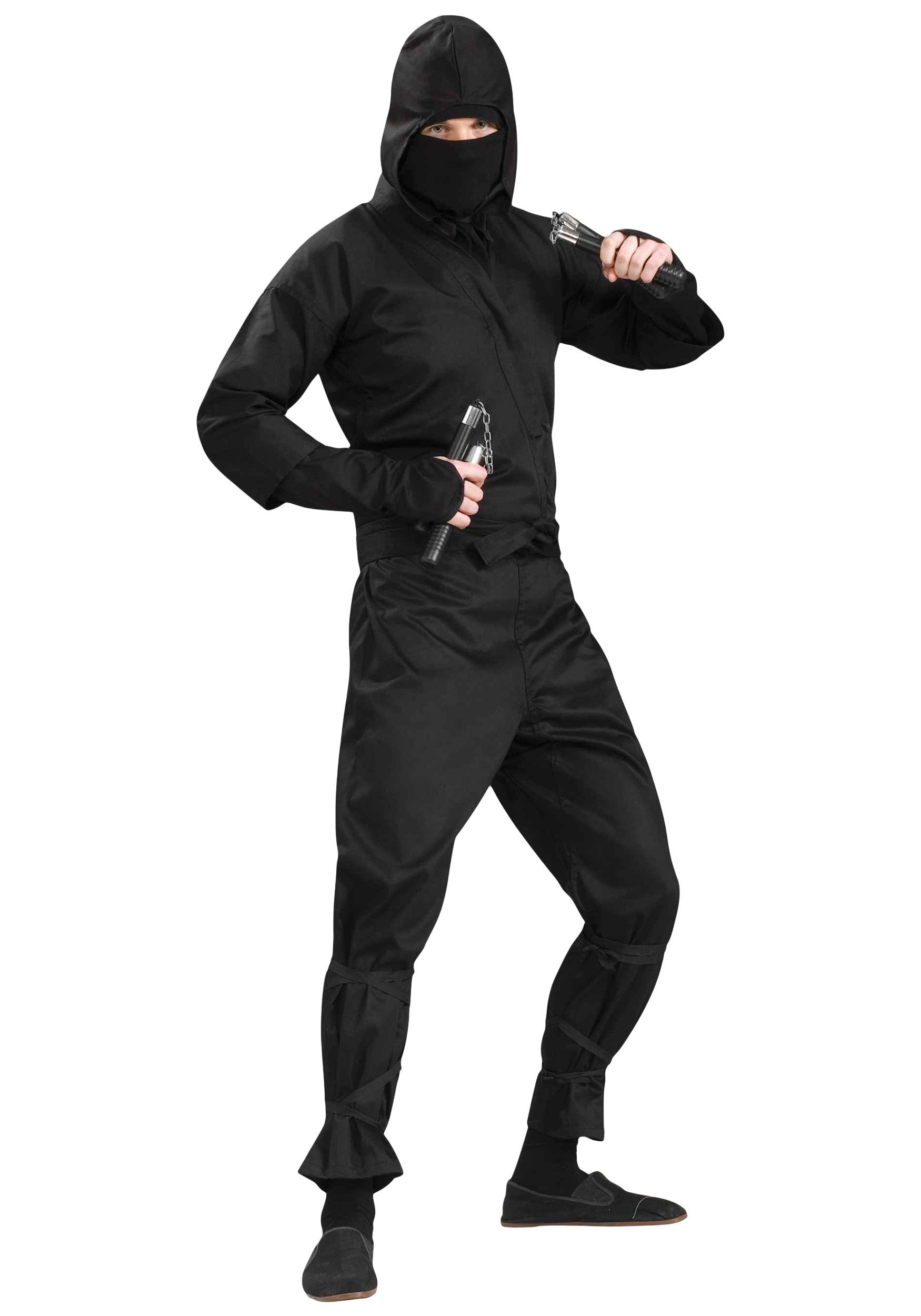 Rubies Costume Deluxe Adult Ninja Costume, Black, Medium