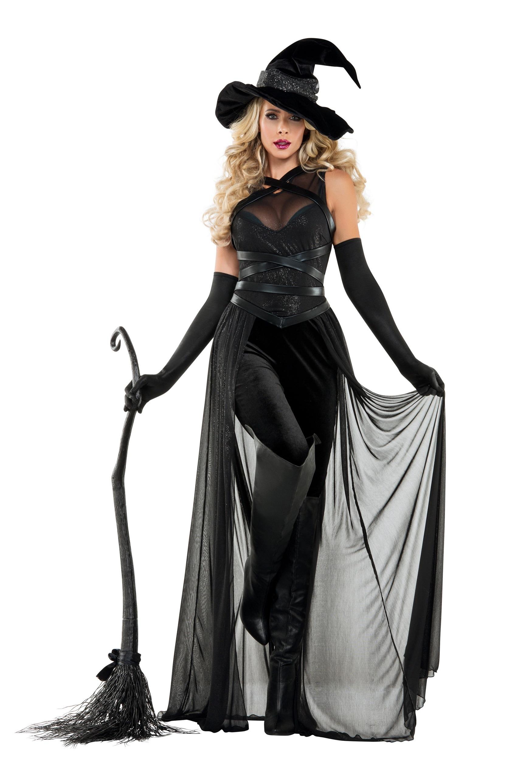 Sexy Black Pentagram Witch Costume