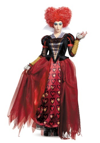 Click Here to buy Adult Deluxe Red Queen Costume from HalloweenCostumes, CDN Funds & Shipping