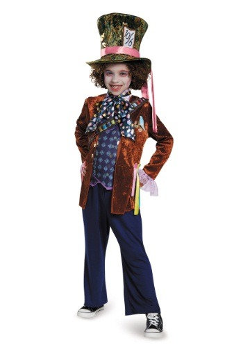Click Here to buy Kids Mad Hatter Deluxe Costume from HalloweenCostumes, CDN Funds & Shipping