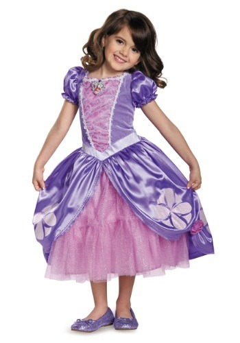 Click Here to buy Deluxe Girls Sofia The First Next Chapter Costume Dress from HalloweenCostumes, CDN Funds & Shipping