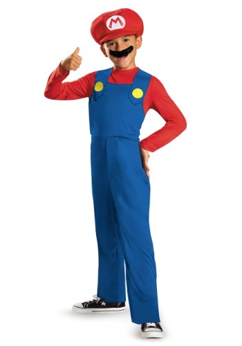 Click Here to buy Boys Mario Classic Costume from HalloweenCostumes, CDN Funds & Shipping
