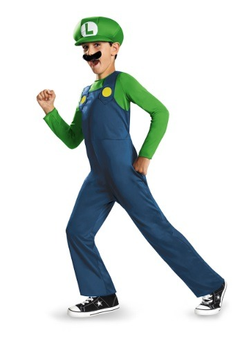 Click Here to buy Boys Luigi Classic Costume from HalloweenCostumes, CDN Funds & Shipping