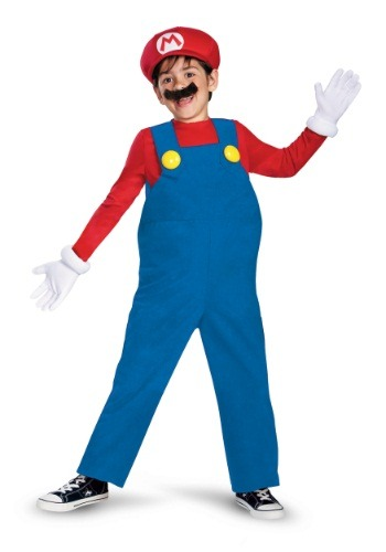 Click Here to buy Boys Deluxe Mario Costume from HalloweenCostumes, CDN Funds & Shipping