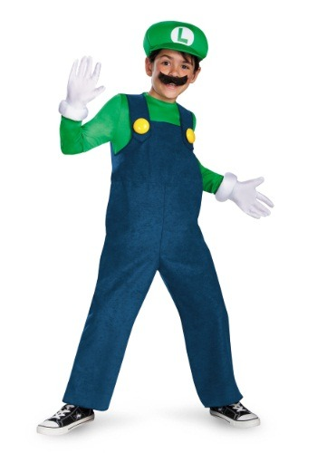 Click Here to buy Boys Deluxe Luigi Costume from HalloweenCostumes, CDN Funds & Shipping