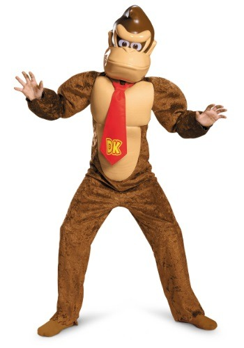 Click Here to buy Kids Deluxe Donkey Kong Costume from HalloweenCostumes, CDN Funds & Shipping