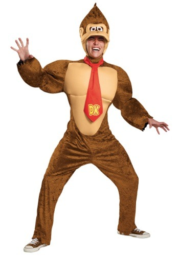 Click Here to buy Plus Size Adult Deluxe Donkey Kong Costume from HalloweenCostumes, CDN Funds & Shipping