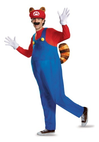 Click Here to buy Adult Deluxe Mario Raccoon Costume from HalloweenCostumes, CDN Funds & Shipping