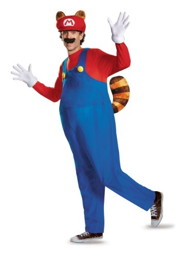Click Here to buy Plus Size Adult Deluxe Mario Raccoon Costume from HalloweenCostumes, CDN Funds & Shipping