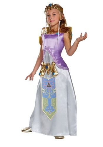Click Here to buy Kids Deluxe Zelda Costume from HalloweenCostumes, CDN Funds & Shipping