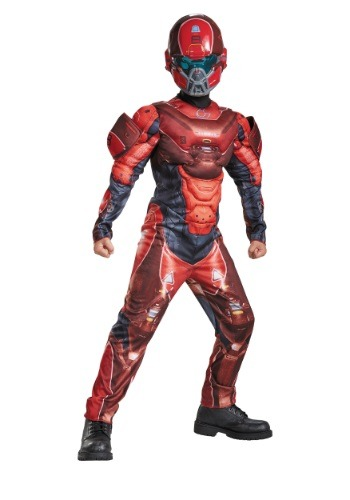 Click Here to buy Kids Halo Red Spartan Muscle Chest Costume from HalloweenCostumes, CDN Funds & Shipping