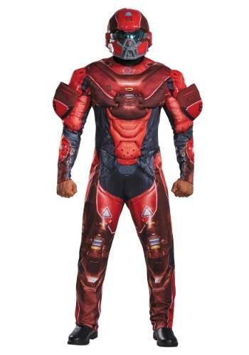 Click Here to buy Adult Red Spartan Muscle Chest Costume from HalloweenCostumes, CDN Funds & Shipping