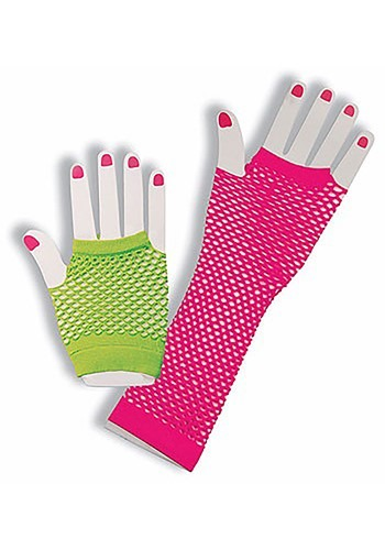 Click Here to buy Neon Fishnet Fingerless Gloves from HalloweenCostumes, CDN Funds & Shipping