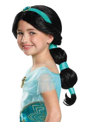 Click Here to buy Kids Jasmine Wig from HalloweenCostumes, CDN Funds & Shipping